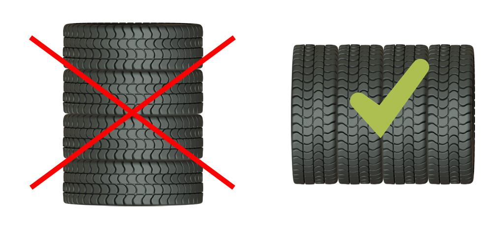 Lose Reifen richtig lagern