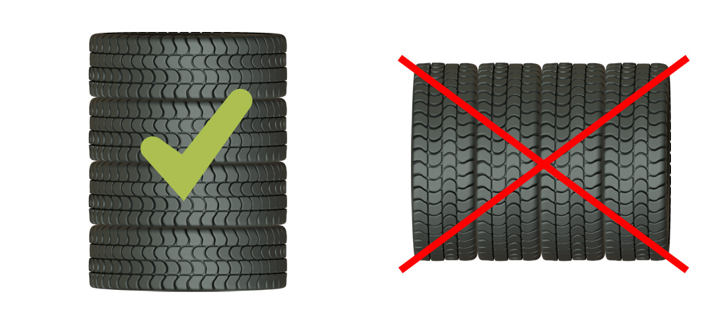 Reifen auf Felge richtig lagern